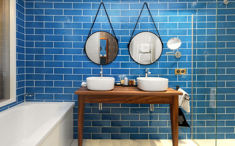 Salle de bain bleu - Junior Suite - Hotel Grains d'Argent
